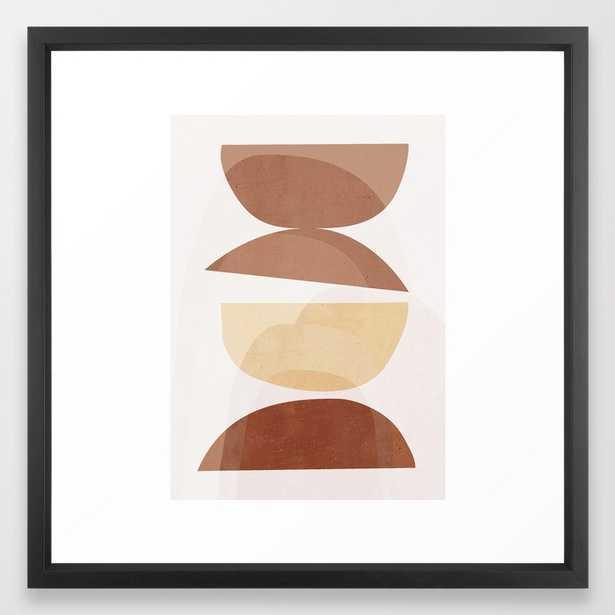 abstract minimal 7 Framed Art Print - Society6