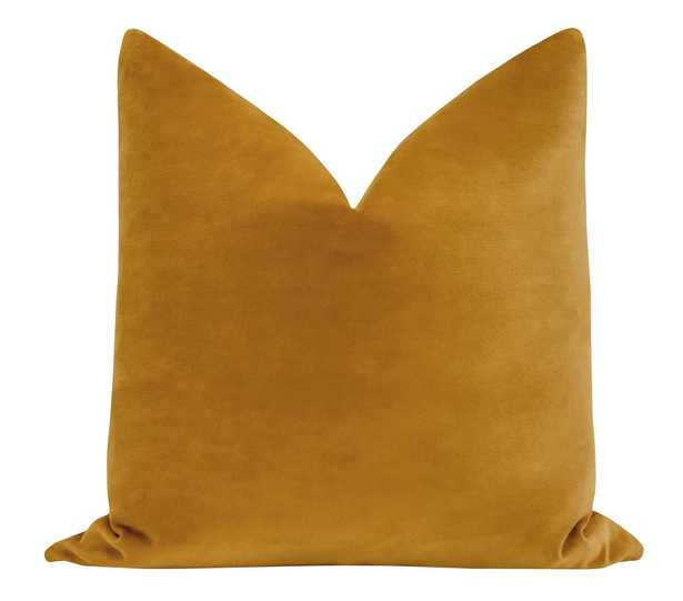 Sonoma Velvet // Curry Pillow Cover 20x20 - Little Design Company