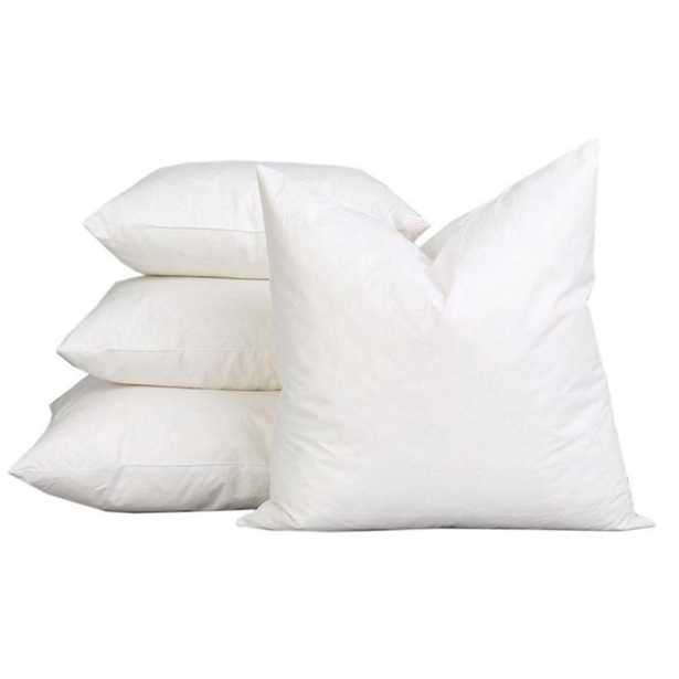 White Solid Down Alternative 12 in. x 24 in. Throw Pillow (Set of 2) - Home Depot