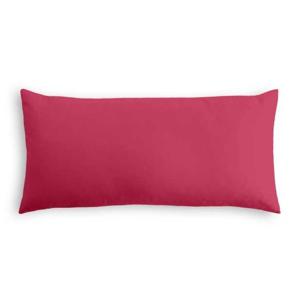 Lumbar Pillow Sunbrella® Canvas - Hot Pink - Loom Decor