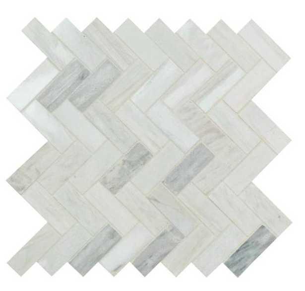 MSI Angora Herringbone 12 in. x 12 in. x 10mm Polished Marble Mesh-Mounted Mosaic Tile (10 sq. ft. / case), Beige - Home Depot