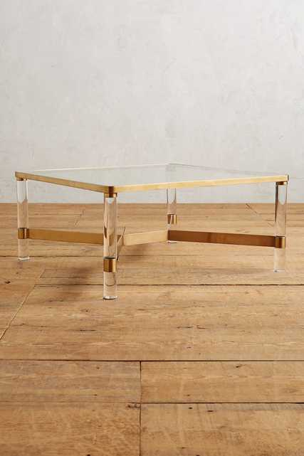 Oscarine Lucite Coffee Table, Rectangle - Anthropologie