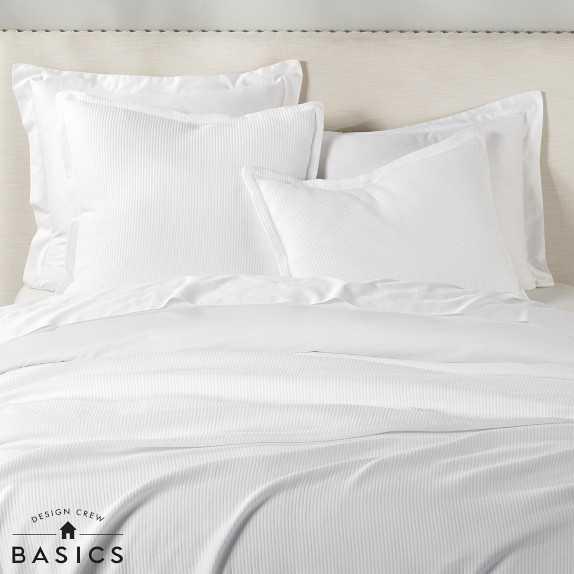 Design Crew Basics Cotton Ribbed Matelasse Coverlet, King/Cal. King - Williams Sonoma