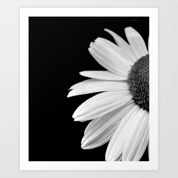 Half Daisy in Black and White Art Print - Society6