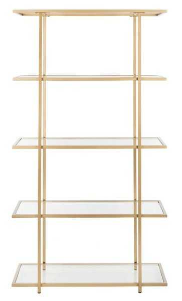 Francis 5 Tier Etagere - Gold/Clear - Arlo Home - Arlo Home