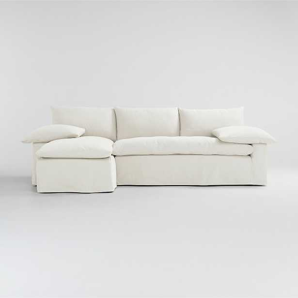 Ever Slipcovered 2-Piece Sectional - Crate and Barrel