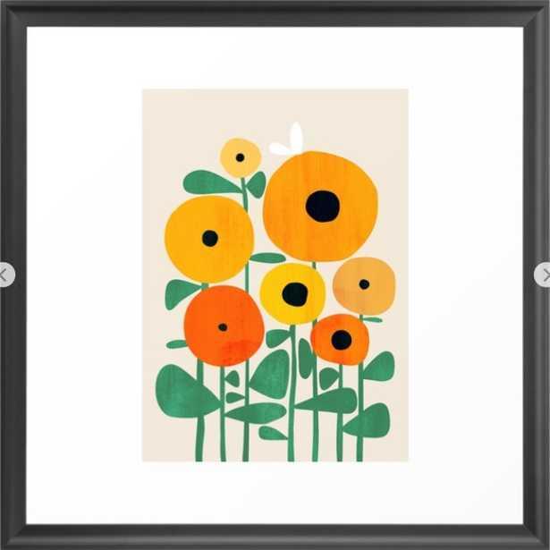 Sunflower and Bee Framed Art Print - Society6