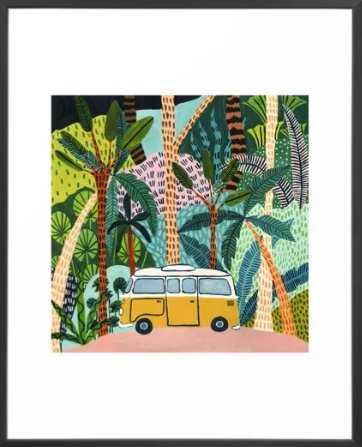 Jungle Camper Framed Art Print - Society6