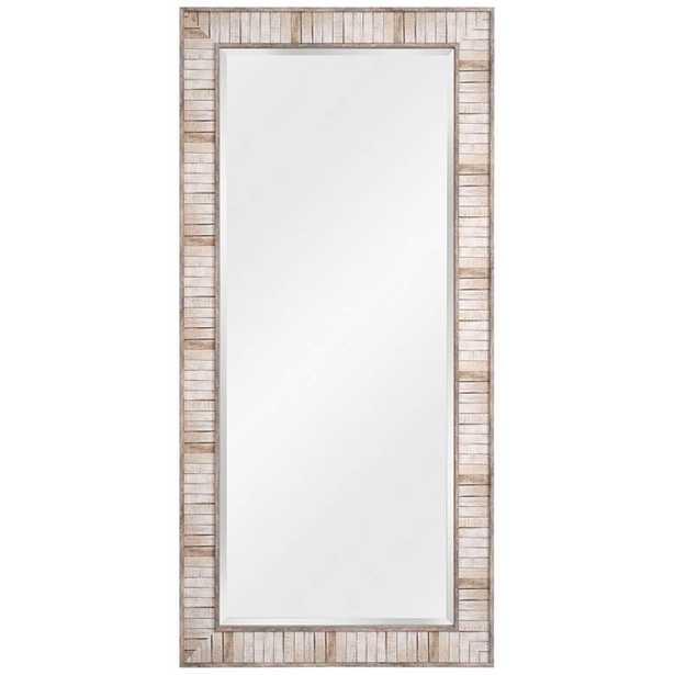 "Kenroy Home Estaba Light Wood 31 1/2 x 65 1/2"" Floor Mirror - Style # 83M38 - Lamps Plus"