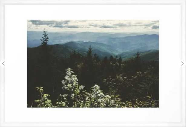 """Smoky Mountains - Nature Photography Framed Art Print_ Frame Vector White_Large (gallery) - 26"""" X 38"""" - Society6"""