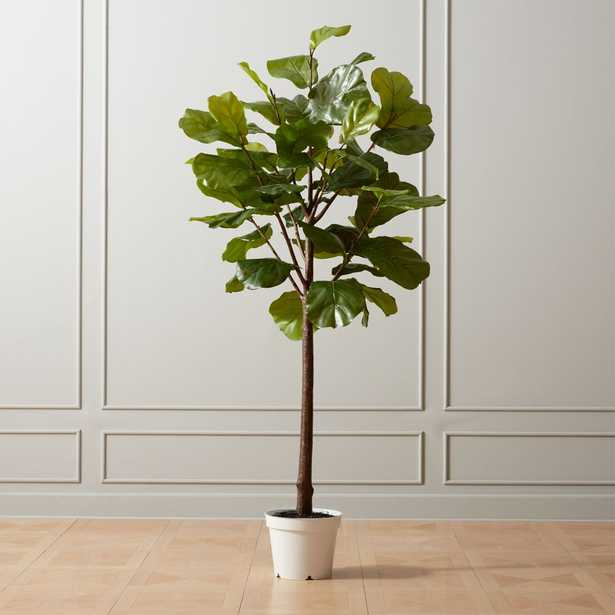 """Faux Potted 84"""" Fiddle Leaf Fig - CB2"""