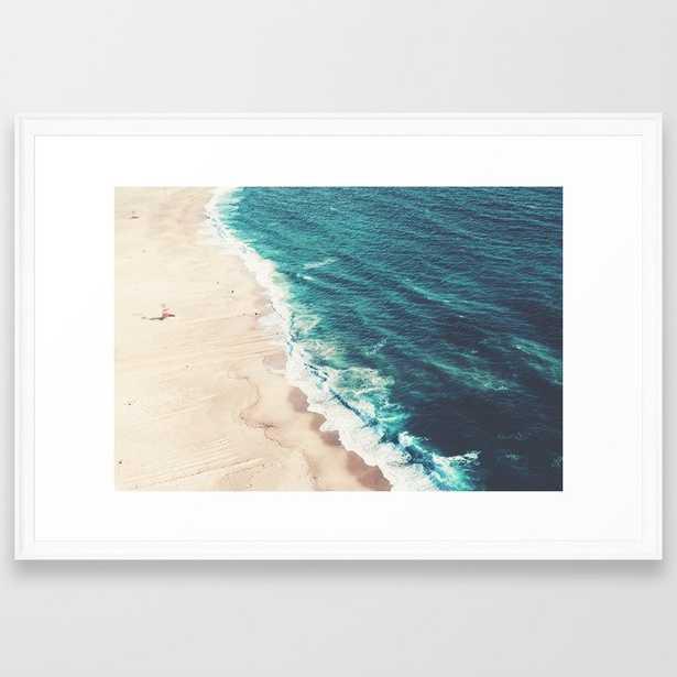 Beach Nazare Framed Art Print - Society6