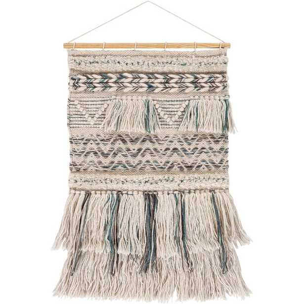 Wool Global Wall Hanging with Rod Included - Wayfair