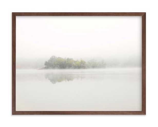 "The Island - 24"" x 18"", walnut frame - Minted"
