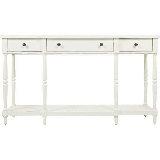 """Antique White Lanford 60"""" Solid Wood Console Table - Birch Lane"""