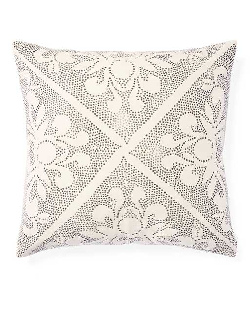 """Camille Scroll 24""""SQ. Pillow Cover - Ivory - Insert sold separately - Serena and Lily"""