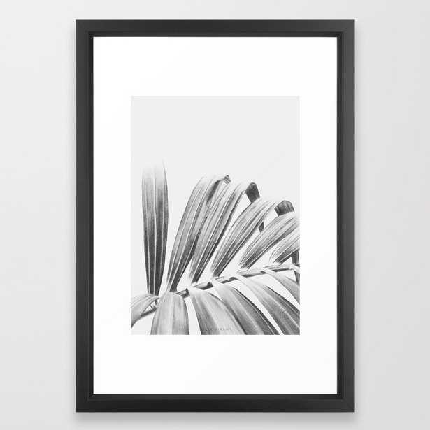 "PALM Framed Art Print - Vector Black - 15"" X 21"" - Society6"