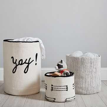 Storage Basket, Medium, Black + White - West Elm