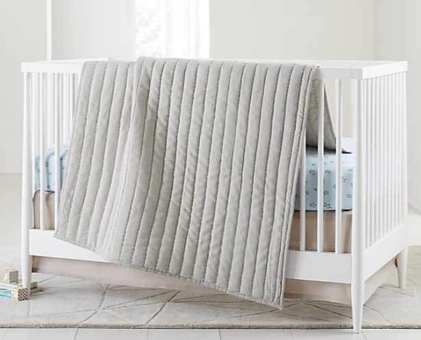 Linen Baby Quilt Grey - Crate and Barrel