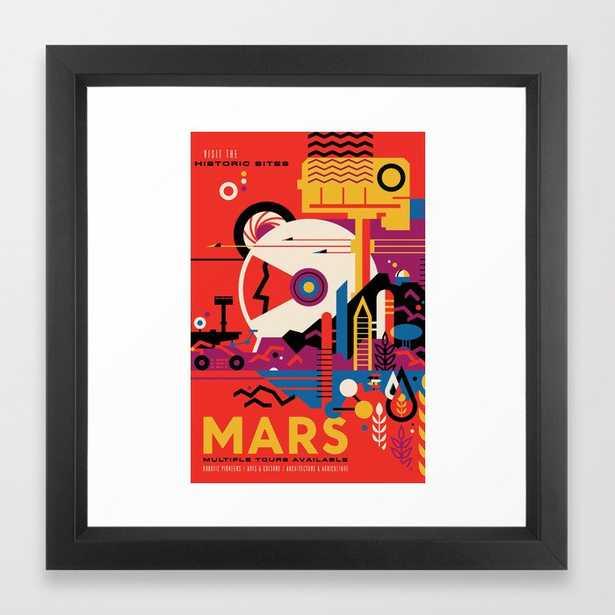 NASA Retro Space Travel Poster #9 Mars Framed Art Print - Society6