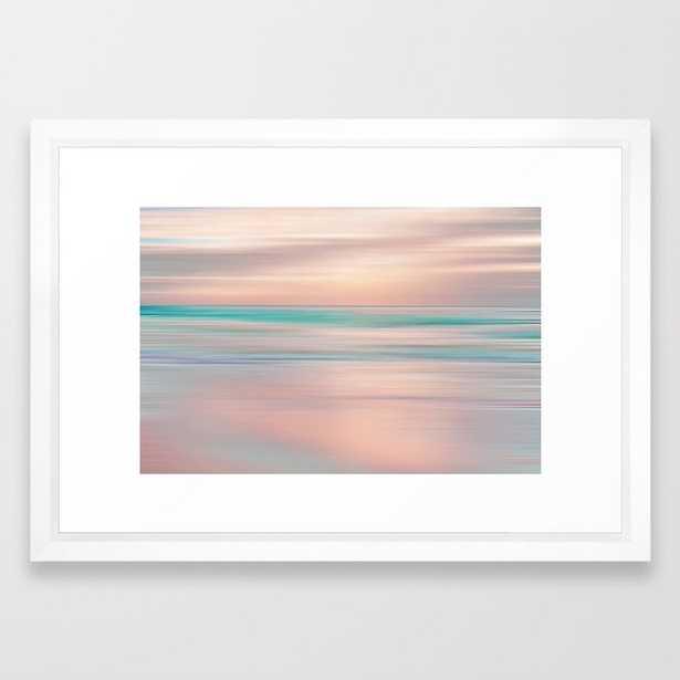 SUNRISE TONES Framed Art Print - 15x21 - vector white frame - Society6