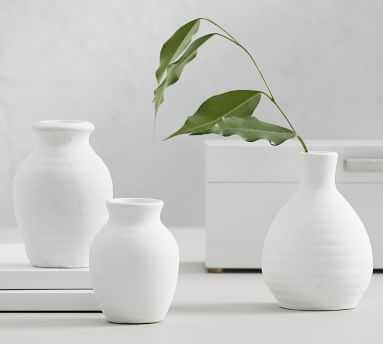 Urbana Ceramic Bud Vases, Multi - S/3 - Pottery Barn