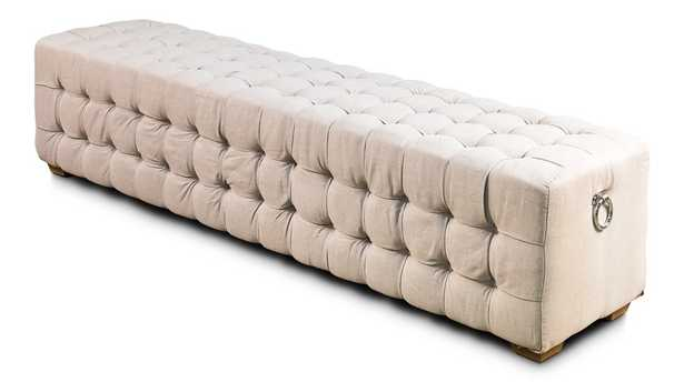 LONG TUFTED UPHOLSTERED BENCH - Perigold