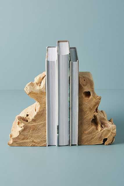 Live-Edge Bookends - Anthropologie