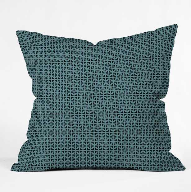 """Lattice Pieces Teal Throw Pillow - 20""""x20"""" - Wander Print Co."""