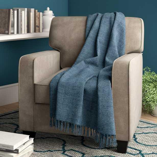 Bovina Throw Blanket / Navy - Wayfair