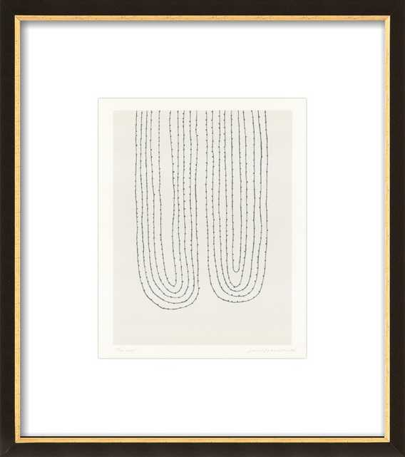 Two Loops, 10x12, Black with Gold Wood Frame, with Matte - Artfully Walls