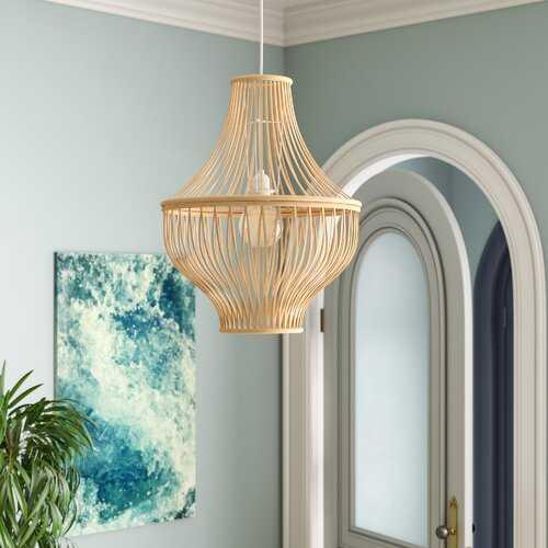 Priscila Bamboo Jar 1-Light Lantern Pendant - Wayfair