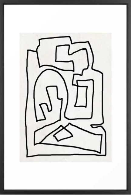 "Abstract line art - 26"" x 38"" - vector black - Society6"