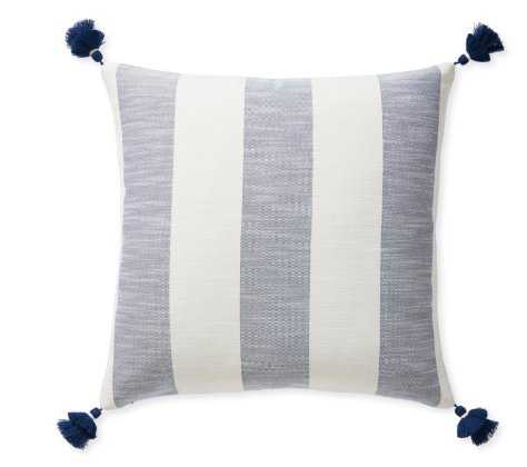 Beach Stripe Pillow Cover Navy - Serena and Lily