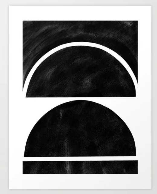"black and white shapes Art Print - 13""x17"" - Society6"