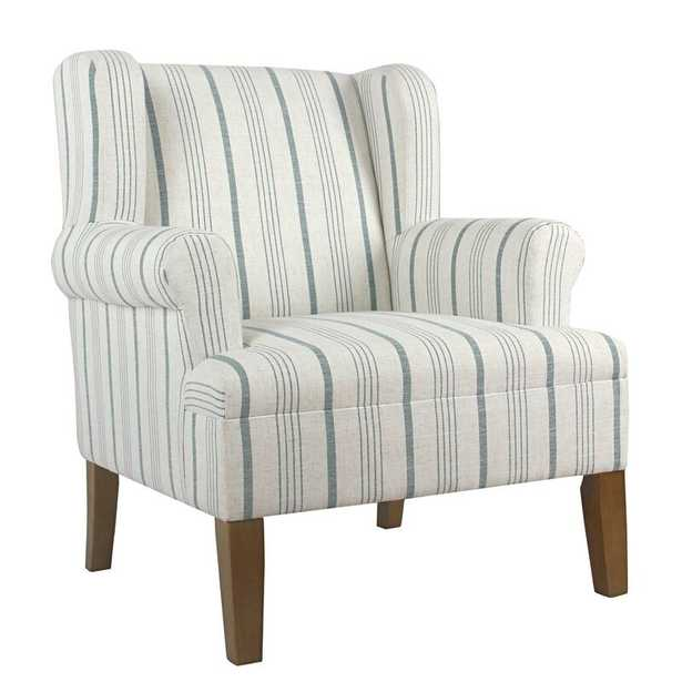 """Atkinson 31.5"""" Wide Polyester Wingback Chair - Wayfair"""