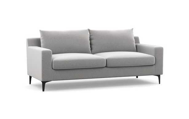 "Sloan Sofa - Ash Performance Felt - Matte Black L Leg - 75"" - 2 Cushions - Standard Fill - Interior Define"