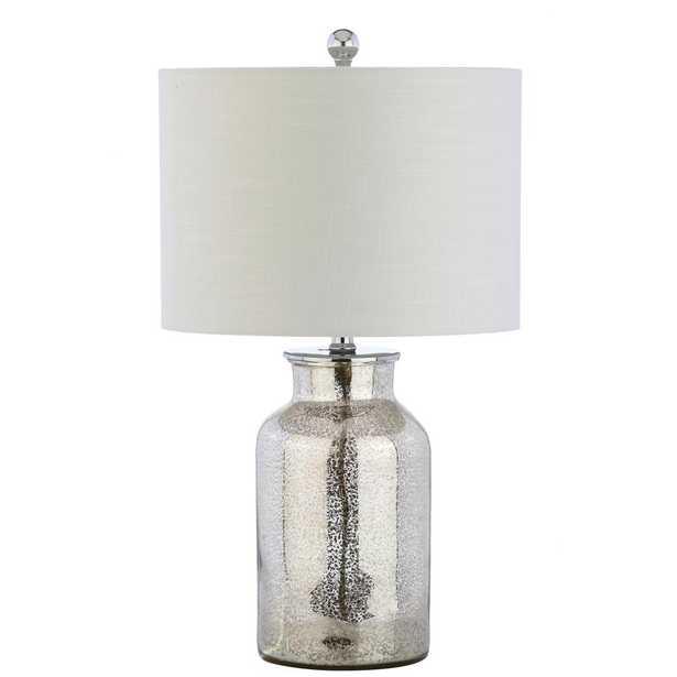 JONATHAN Y Esmee 24.5 in. Mercury Silver Mercury Glass Table Lamp - Home Depot