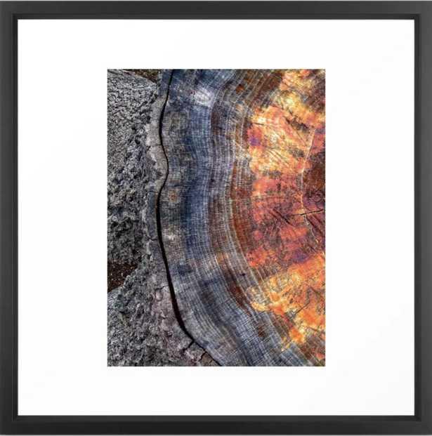 Tree Stump Ring, 8 x 8, Vector Black - Society6