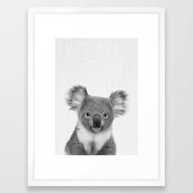 """Koala Framed Art Print, 20""""x26"""", Vector White Frame - Society6"""