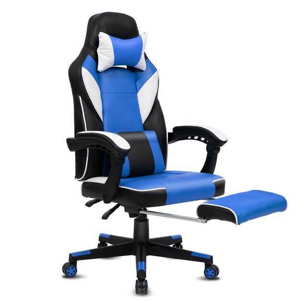 High-Back PC & Racing Game Chair, Blue - Wayfair