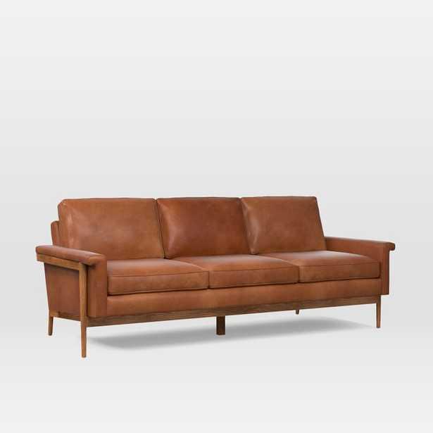 "Leon Wood Frame Leather Sofa (82"") - West Elm"