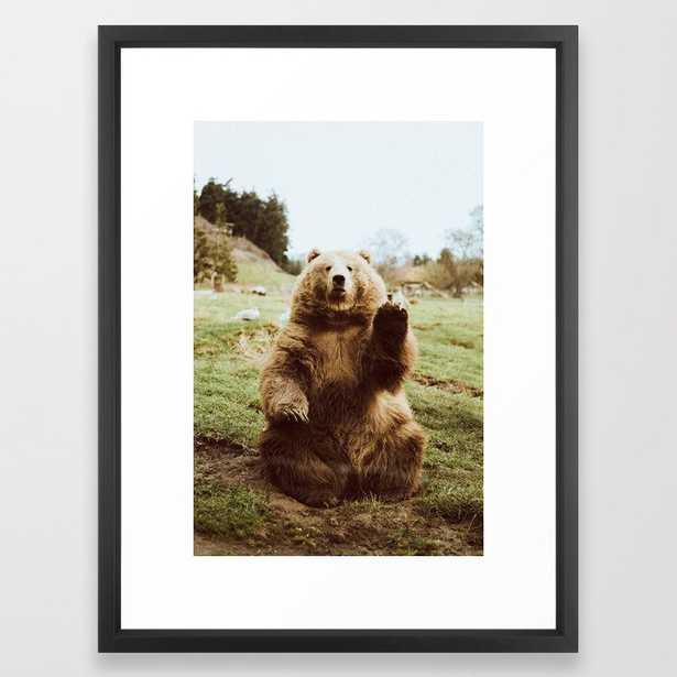 Hi Bear Framed Art Print - Society6