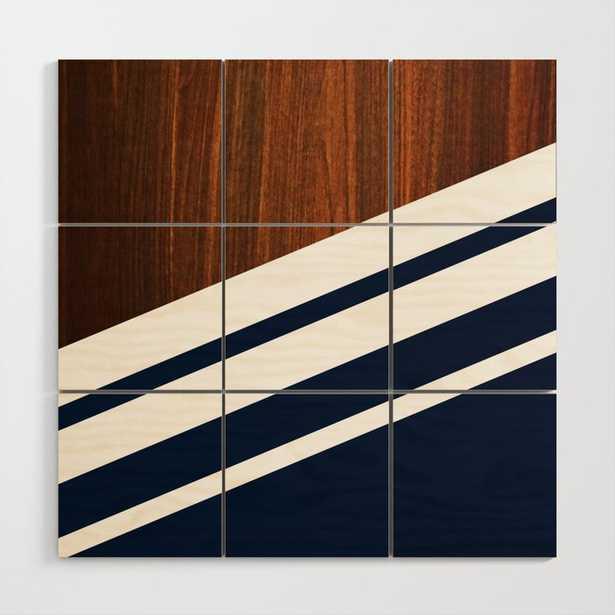 Wooden Navy Wood Wall Art - Society6