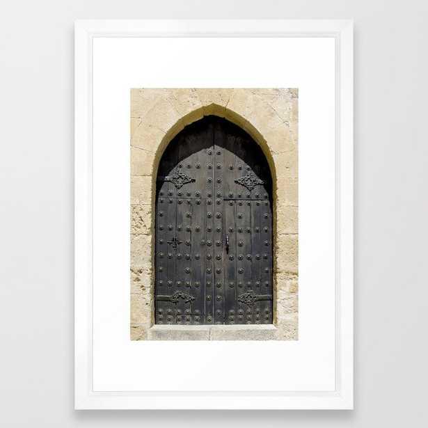 Old Black Door Framed Art Print - Society6