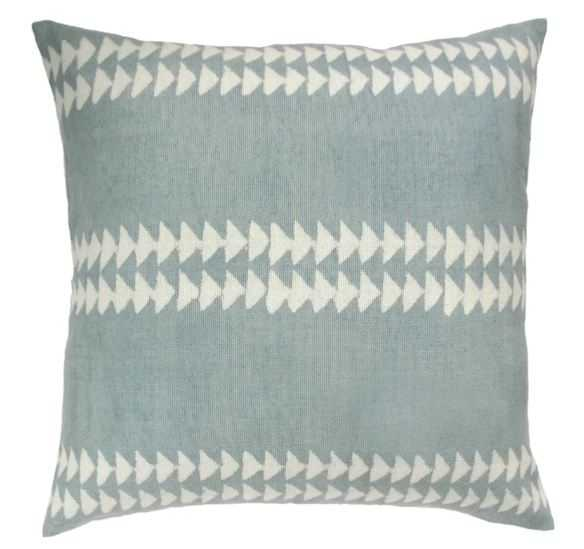 FILLING SPACES TEAL TRIANGLE PILLOW - PillowPia