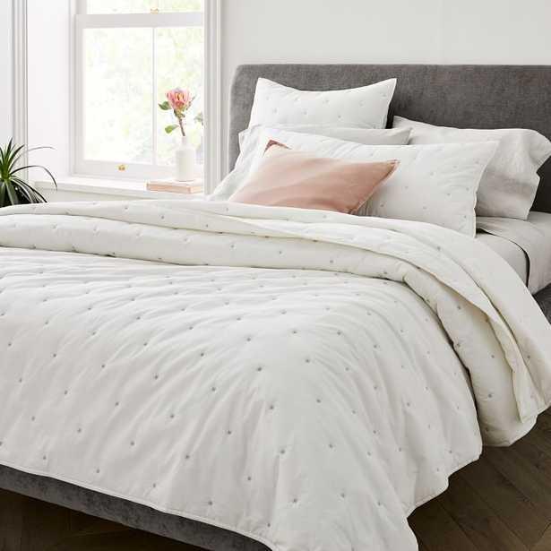 Washed Cotton Percale Quilt & Shams - West Elm
