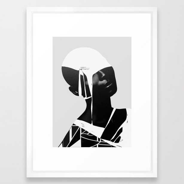 "abstract portrait Framed Art Print by dada22  - 20""x26"" - Society6"