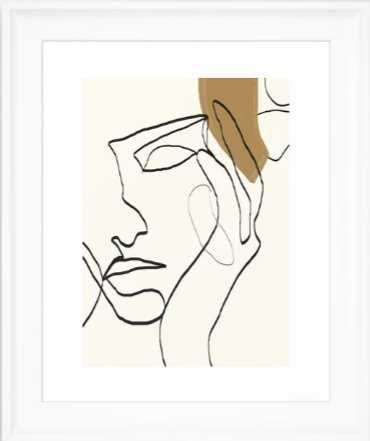 Abstract Face Framed Art Print, Scoop White Frame - Society6