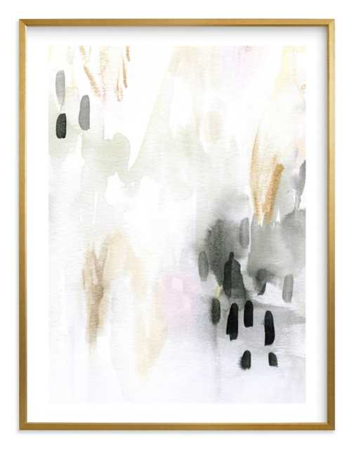 """ever softly framed art print- Size 40"""" X 54""""- Gilded Wood Frame- Charcoal- Standard Plexi & Materials- White Border - Minted"""